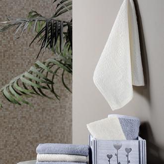 Подарочный набор полотенец-салфеток 30*30(6) FLORI хлопковая махра (светло-серый)