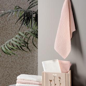 Подарочный набор полотенец-салфеток 30х30 6 шт. FLORI хлопковая махра персиковый