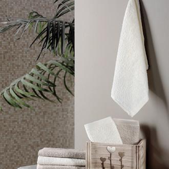 Подарочный набор полотенец-салфеток 30*30(6) FLORI хлопковая махра (светло-кофейный)