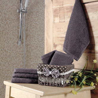 Подарочный набор полотенец-салфеток 30х30 6 шт. PRUVA хлопковая махра коричневый