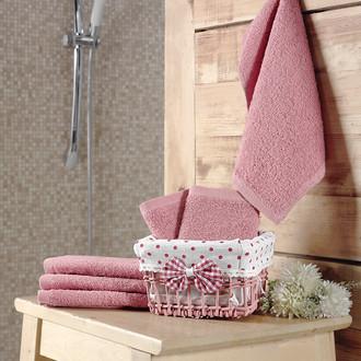 Подарочный набор полотенец-салфеток 30*30(6) PRUVA хлопковая махра (грязно-розовый)