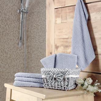 Подарочный набор полотенец-салфеток 30*30(6) PRUVA хлопковая махра (светло-серый)