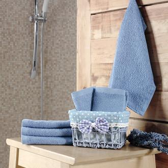 Подарочный набор полотенец-салфеток 30*30(6) PRUVA хлопковая махра (голубой)