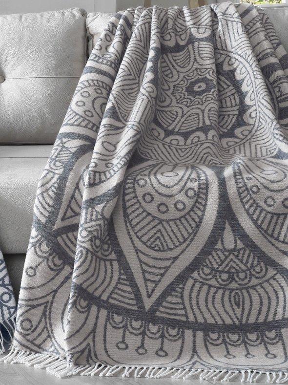 Плед-покрывало Karna DAMLA хлопок/акрил 220*240, фото, фотография