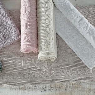 Набор ковриков 2 пр. Gelin Home SONIL хлопковая махра грязно-розовый 45х60, 60х100