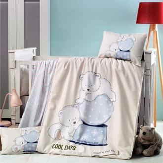 Комплект детского постельного белья в кроватку Victoria BABY FROZEN хлопковый ранфорс