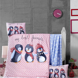 Комплект детского постельного белья в кроватку Victoria BABY BEST FRIEND хлопковый ранфорс