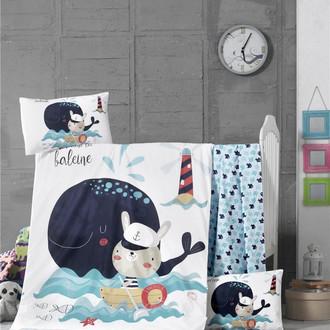 Комплект детского постельного белья в кроватку Victoria BABY FISHER хлопковый ранфорс