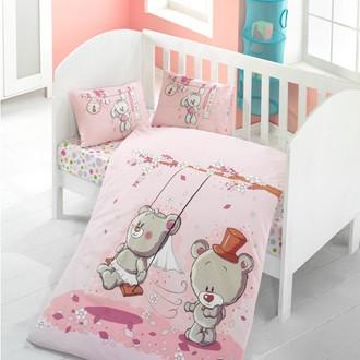 Комплект детского постельного белья в кроватку Victoria BABY PINK DREAM хлопковый ранфорс