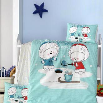 Комплект детского постельного белья в кроватку Victoria BABY SOUTH POLE хлопковый ранфорс