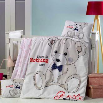 Комплект детского постельного белья в кроватку Victoria BABY TEDDY хлопковый ранфорс