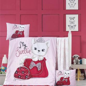 Комплект детского постельного белья в кроватку Victoria BABY TINNY CAT хлопковый ранфорс