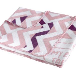 Детский плед Karna FRINENDY хлопок/акрил грязно-розовый 90х120