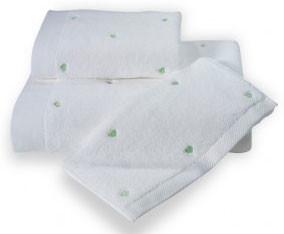 Набор полотенец для ванной 50х100, 75х150 Soft Cotton LOVE хлопковый микрокоттон зелёный