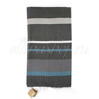 Полотенце-палантин (пештемаль) Buldan's PERA хлопок (серый)