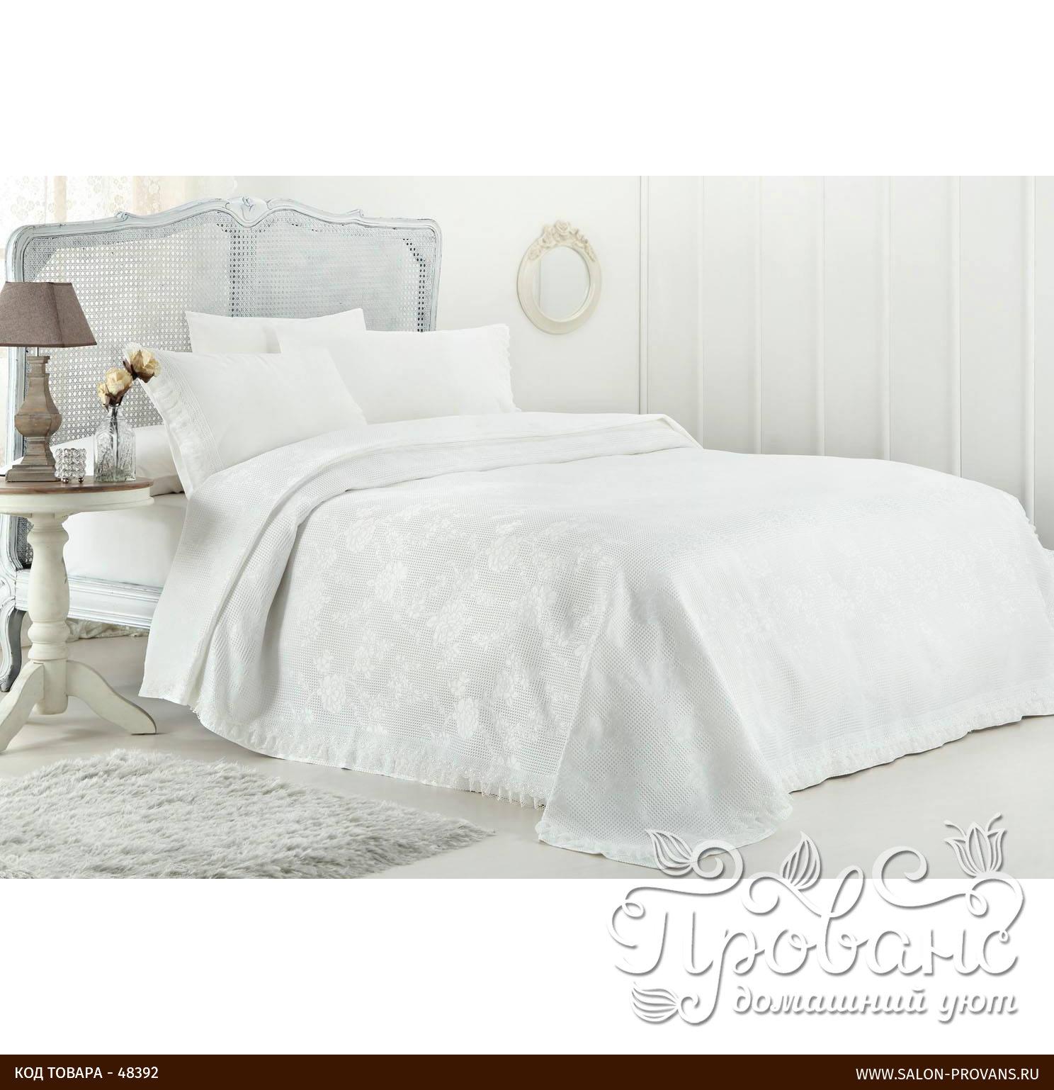 ce01cf49d8a9 Постельное белье с вафельной простынью-покрывалом для укрывания (пике)  Gelin Home NISAN хлопковый