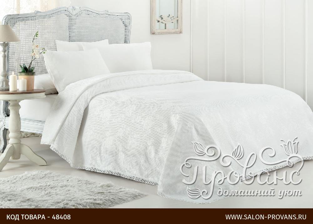 85f1674336a2 Постельное белье с вафельной простынью-покрывалом для укрывания (пике)  Gelin Home MARCH хлопковый