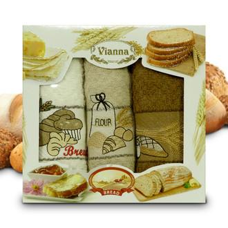 Набор кухонных полотенец 40*60(3) Vianna 8055 хлопковая махра (05)