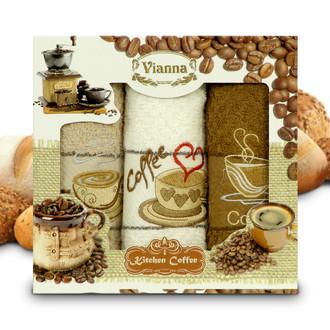 Набор кухонных полотенец 40*60(3) Vianna 8055 хлопковая махра (10)