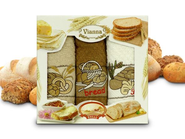 Набор кухонных полотенец 40*60(3) Vianna 8055 хлопковая махра (07), фото, фотография