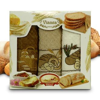 Набор кухонных полотенец 40*60(3) Vianna 8055 хлопковая махра (09)