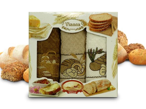 Набор кухонных полотенец 40*60(3) Vianna 8055 хлопковая махра (09), фото, фотография