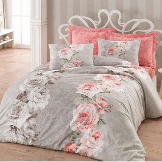Комплект постельного белья Cotton Box SATEN HULYA хлопковый сатин (бежевый)