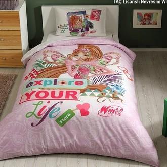 Комплект детского постельного белья TAC WINX FLORA FAIRYTALE хлопковый ранфорс