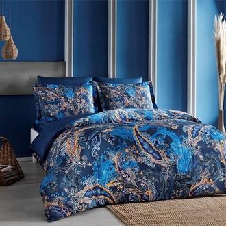Постельное белье TAC PREMIUM DIGITAL MARISOL хлопковый сатин deluxe синий