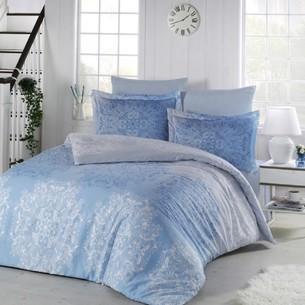 Постельное белье Altinbasak HALLEY хлопковый сатин голубой евро
