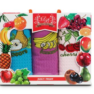 Набор кухонных полотенец 45*70(3) Nilteks 8506 хлопковая вафля (11)