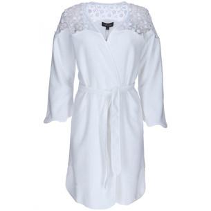 Халат женский Soft Cotton ROSELLA хлопковая махра белый L