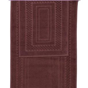Набор ковриков для ванной 2 пр. Hobby Home Collection CHEQUERS хлопковая махра коричневый