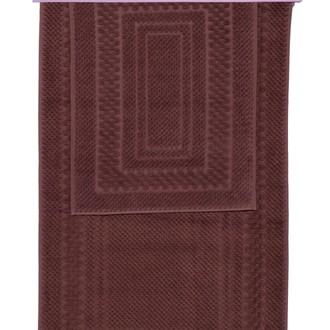 Набор ковриков для ванной 2 пр. Hobby Home Collection CHEQUERS хлопковая махра (коричневый)