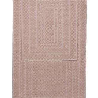 Набор ковриков для ванной 2 пр. Hobby Home Collection CHEQUERS хлопковая махра (тёмно-кремовый)
