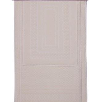Набор ковриков для ванной 3 пр. Hobby Home Collection CHEQUERS хлопковая махра (песочный)