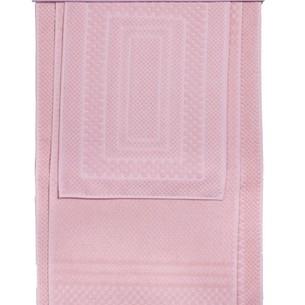 Набор ковриков для ванной 3 пр. Hobby Home Collection CHEQUERS хлопковая махра розовый