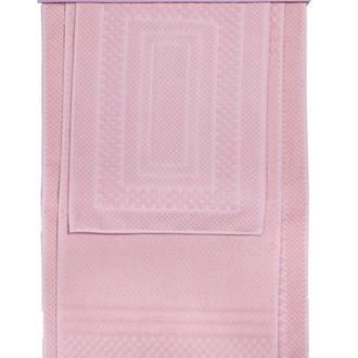 Набор ковриков для ванной 3 пр. Hobby Home Collection CHEQUERS хлопковая махра (розовый)