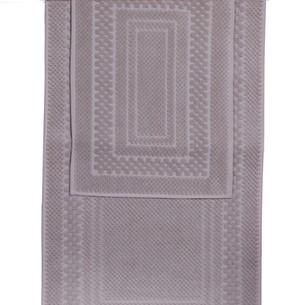 Набор ковриков для ванной 3 пр. Hobby Home Collection CHEQUERS хлопковая махра серый