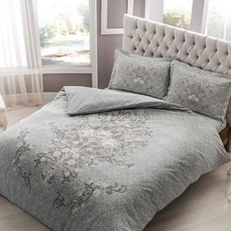 Комплект постельного белья TAC HAPPY DAYS MARIEL хлопковый сатин (серый)