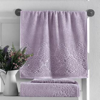 Полотенце для ванной Karna VERDA хлопковая махра светло-лавандовый
