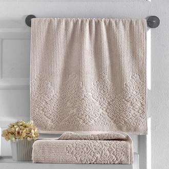 Полотенце для ванной Karna VERDA хлопковая махра бежевый