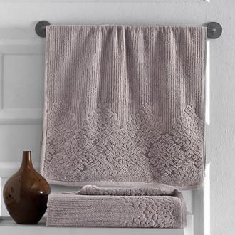 Полотенце для ванной Karna VERDA хлопковая махра кофейный
