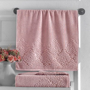 Полотенце для ванной Karna VERDA хлопковая махра кирпичный 90х150