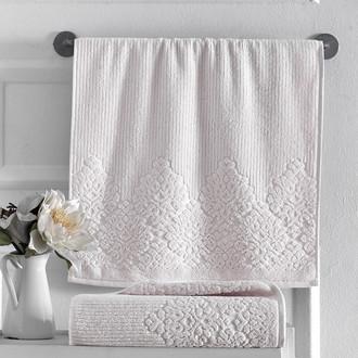 Полотенце для ванной Karna VERDA хлопковая махра кремовый