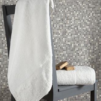 Подарочный набор полотенец для ванной 50х90, 70х140 Karna ELINDA хлопковая махра кремовый