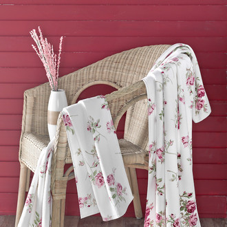 Полотенце для ванной Karna PARIS хлопковая махра/велюр (V1)