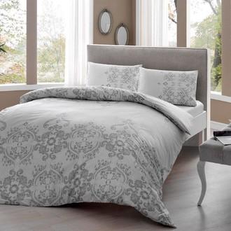 Комплект постельного белья TAC HAPPY DAYS ROMINA хлопковый ранфорс (серый)