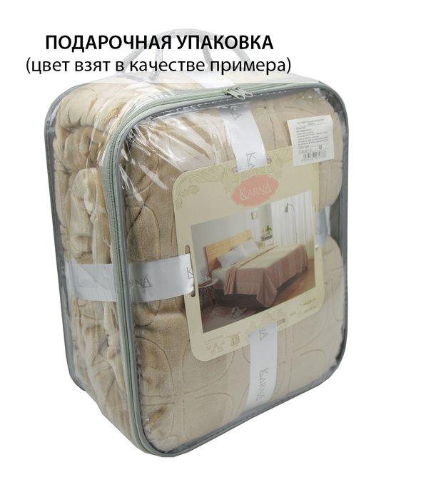 Плед-покрывало Karna PALMA велсофт коричневый 160*220, фото, фотография