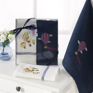 Подарочный набор полотенец для кухни 40х60 2 шт. Karna BALOON хлопковая вафля